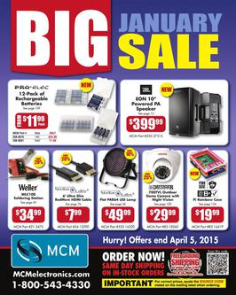 Big January Sale 2015