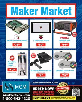 Maker Market  Ends October 1st, 2017