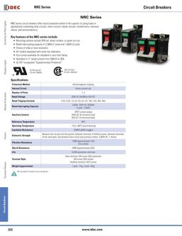 NRC DIN Rail Mount Series Circuit Breakers 2013