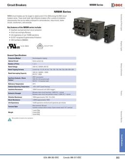 NRBM Panel Mount Series Circuit Breakers 2013