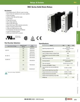 RSC Solid State Series Relays 2013