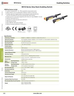 HE1G Series Grip Style Enabling Switch 2013