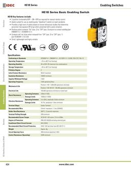 HE1B Series Basic Enabling Switches 2013