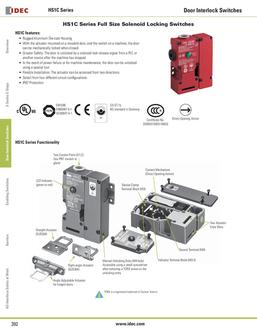 HS1C Series Full Size Solenoid Locking Switches 2013