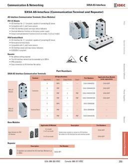 SX5A AS-Interface (Communication Terminal & Repeater) 2013
