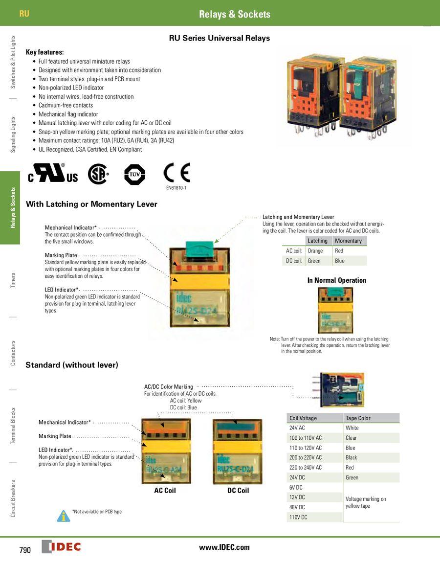Ru Gp Series Relays 2013 By Idec Canada Relay Wiring