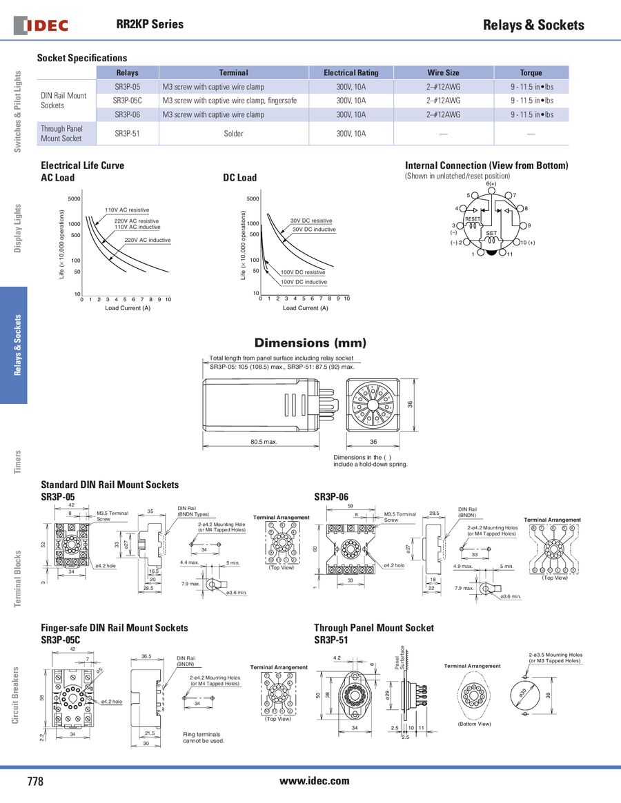 RR2KP Latching Series Relays 2013 by IDEC Canada on idec solid state relays, idec safety relay, idec relay 24v, idec smart relay, idec relay schematic, idec spdt relay, idec relay base,