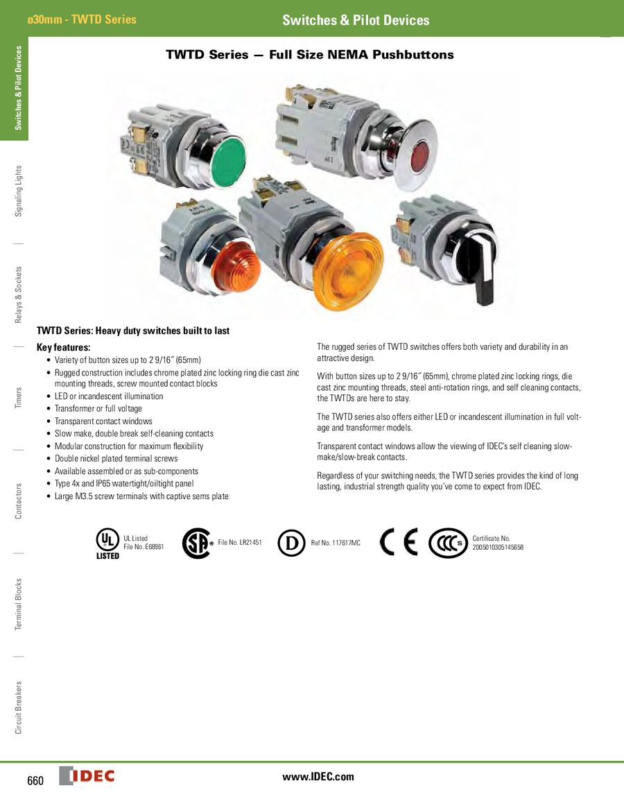 TWTD 30mm Series 2013 by IDEC Canada Idec Position Selector Switch Wiring Diagram on