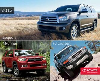 2012 Toyota 4-Runner, FJ Cruiser & Sequoia