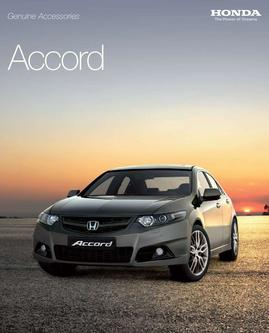Honda Accord Saloon Accessories 2013