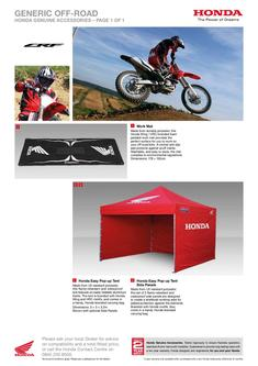 Honda CRF250L Accessories 2013