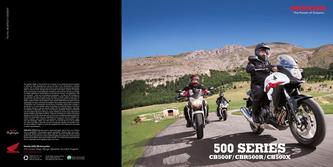 Honda 500 Series Motorcycles 2013