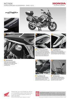 Honda NC700X Accessories 2013