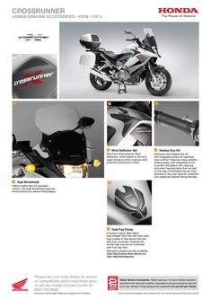 Honda Crossrunner Accessories 2013
