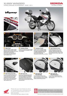 Honda XL1000V Varadero Accessories 2013