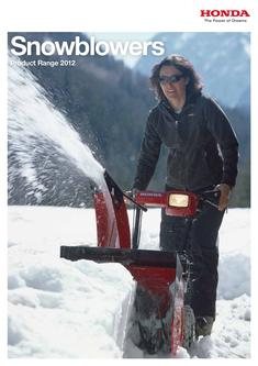 Honda Snowblowers 2012