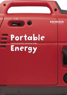 Honda Leisure generators and pump range 2013