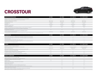 Honda Crosstour Spécifications 2013 (French)