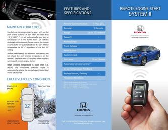 Honda Remote Engine Start System II  2015
