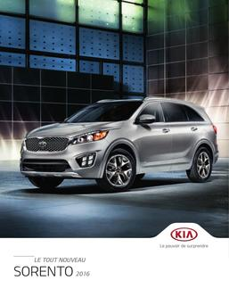 KIA Sorento 2016 (French)