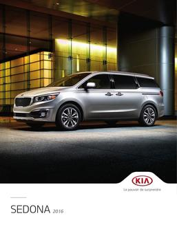 KIA Sedona 2016 (French)
