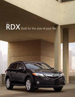 2014 Acura RDX Fact Sheet