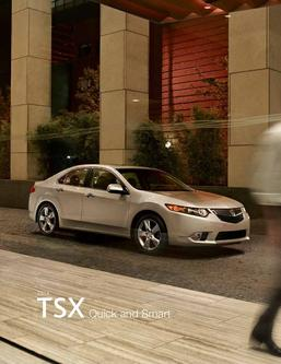 2014 Acura TSX Fact Sheet