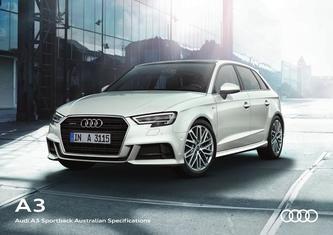 Audi A3 Sportback Australian Specifications 2017