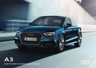 Audi A3 Sedan Australian Specifications 2017