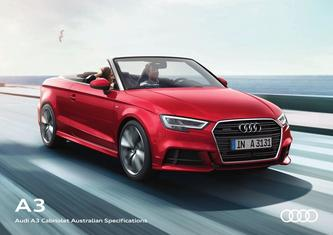 Audi A3 Cabriolet Australian Specifications 2017