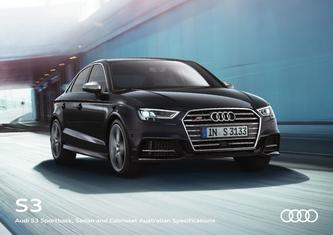 Audi S3 Sportback, Sedan and Cabriolet Australian Specifications 2017