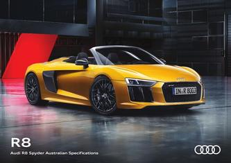Audi R8 Spyder Australian Specifications 2017