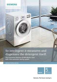 Siemens i-Dos washing machine and Energy Efficient dryer 2013