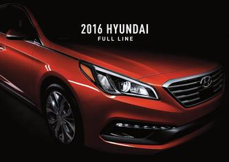 2016 Hyundai Model Range