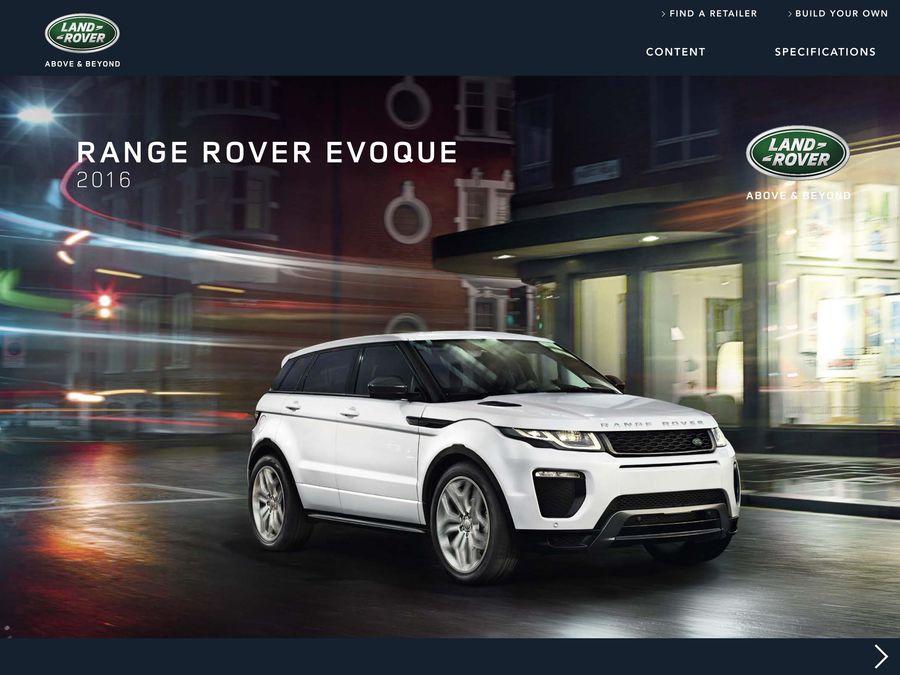 Range Rover Usa >> 2016 Land Rover Evoque By Land Rover Usa