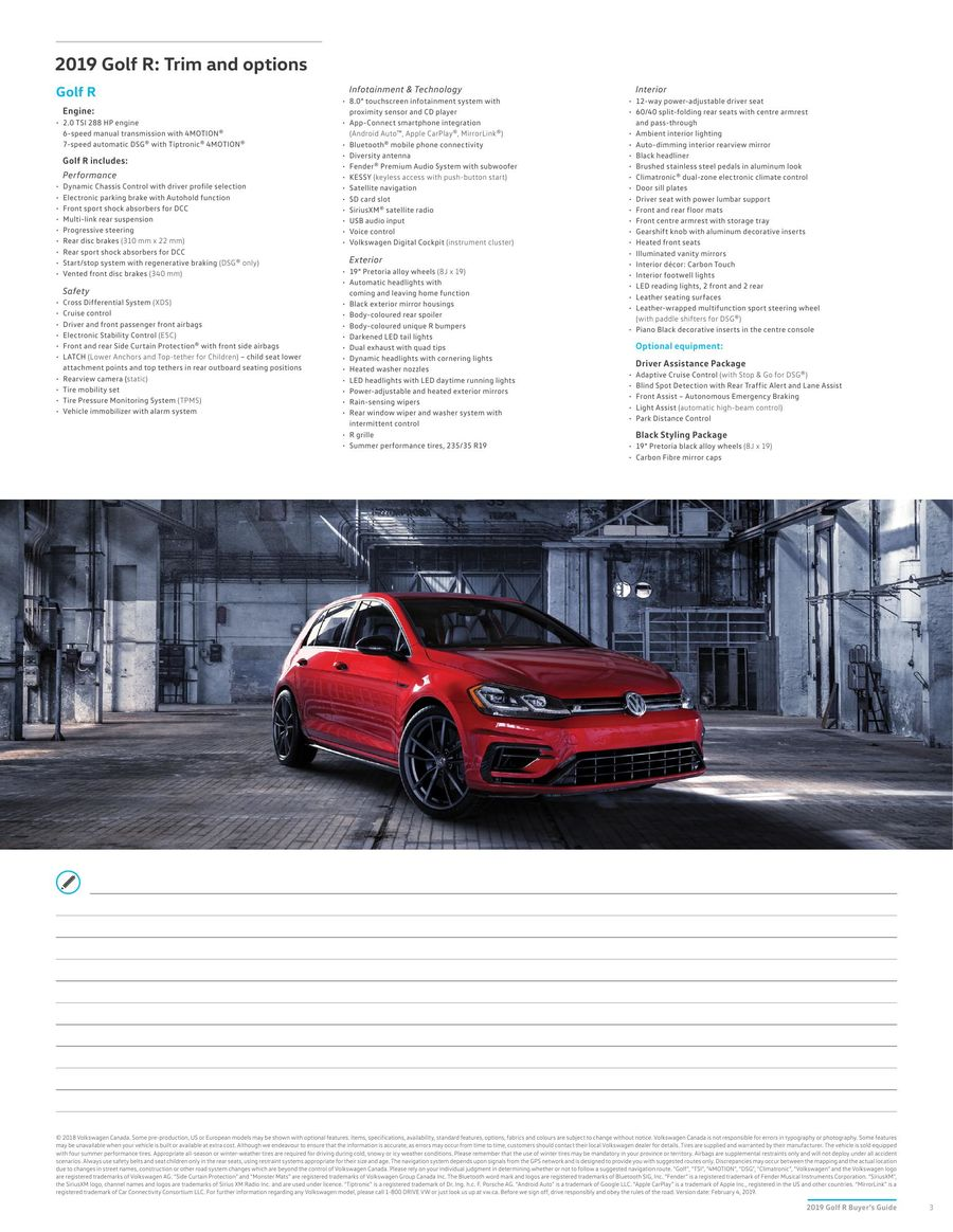 2019 Golf R by Volkswagen Canada