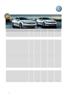 The all new Passat - Specifications and Options MY15