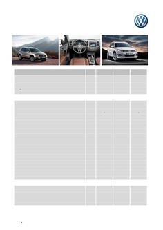 Tiguan Specifications and Options MY15
