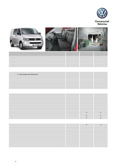 Transporter Van Specifications and Options MY15