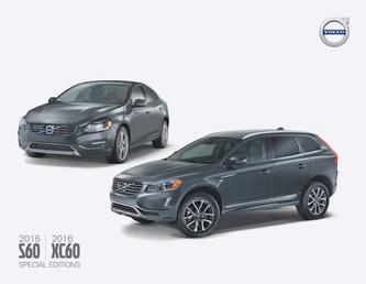 2016 S60 & XC60 Special Editions