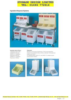 Ingredient Dispense Containers & Systems