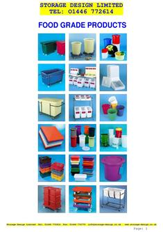 Food grade Containers Full Catalogue