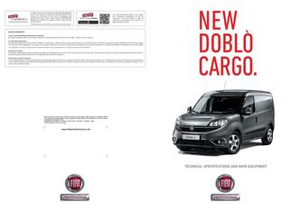 New Doblò Cargo/Combi/XL/Workup Technical Specification 2016