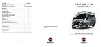 New Ducato Passenger Transport Technical Specification 2016