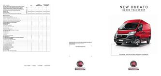 New Ducato Goods Transport Technical Specification 2016