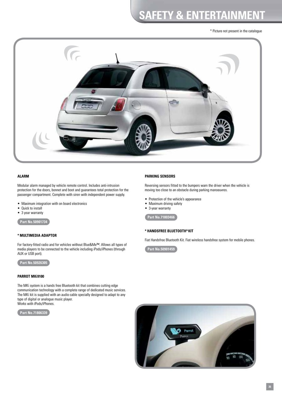 Page 39 of Fiat 500 Accessories 2014