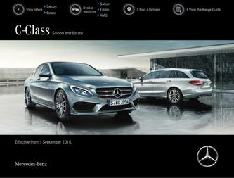 C-Class Saloon and Estate September 2015