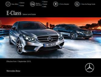 E-Class Saloon and Estate September 2015
