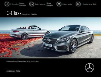 C-Class Coupé and Cabriolet December 2016