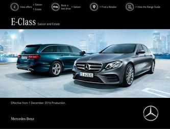 E-Class Saloon and Estate December 2016